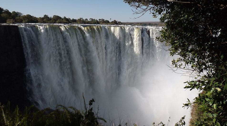 the Victoria Falls Zimbabwe Southern Africa tourist destination