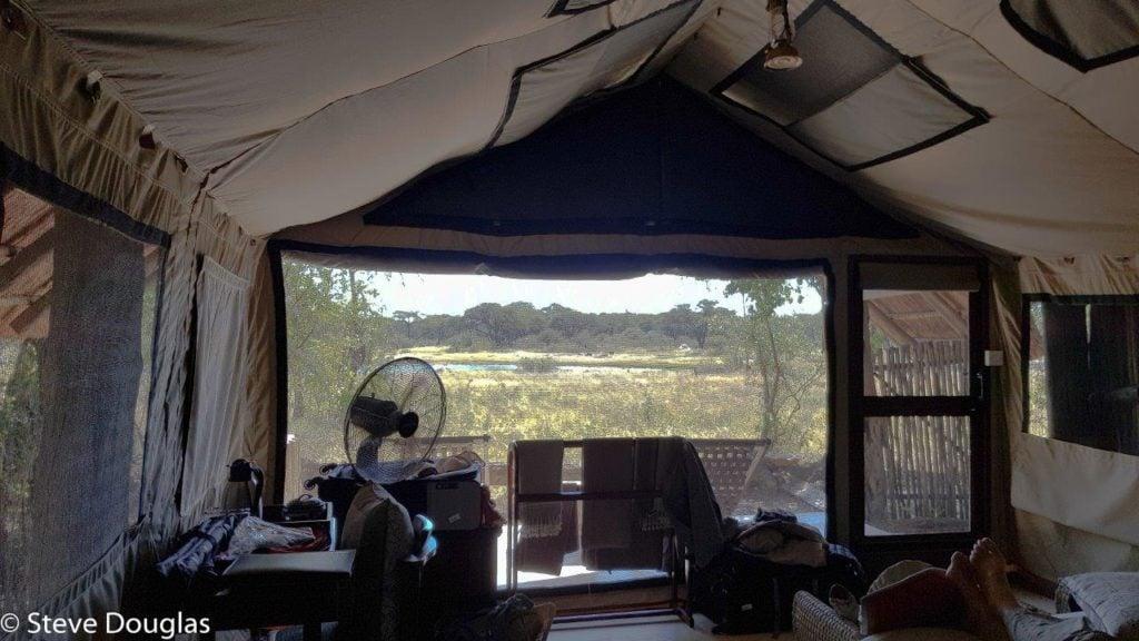 The Hide luxury Tent accommodation Hwange National Park Zimbabwe africa