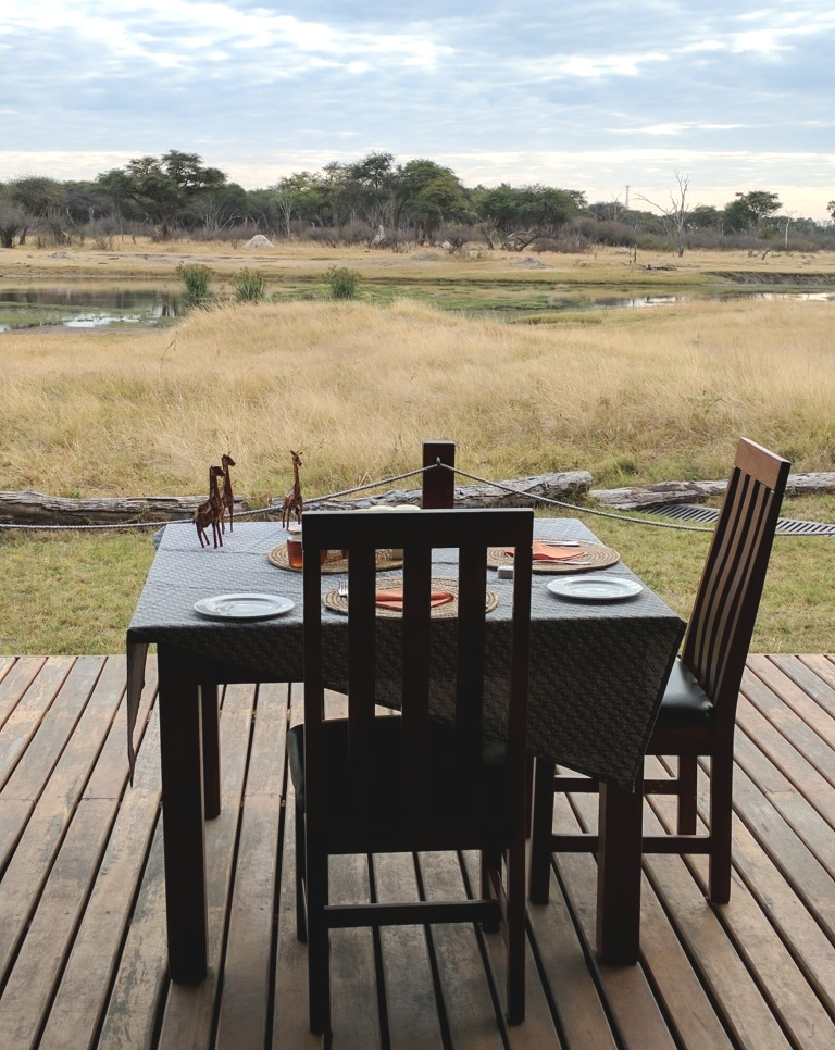 The Hide Tent accommodation Hwange National Park Zimbabwe africa2jpg