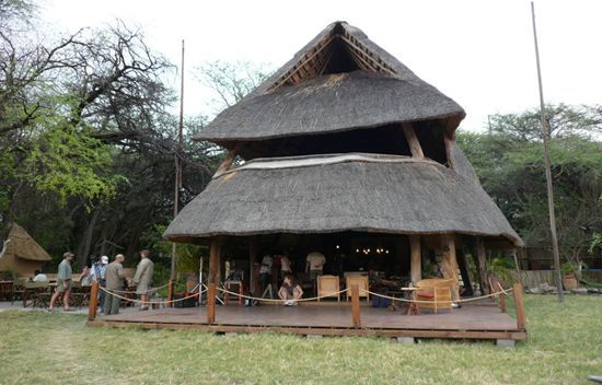 The Hide tented accommodation Hwange Zimbabwe Africa